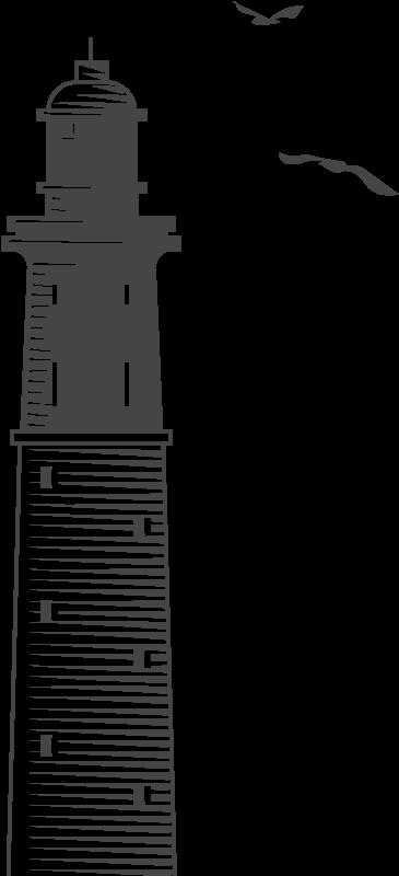 Gravure du Phare d'Arcachon